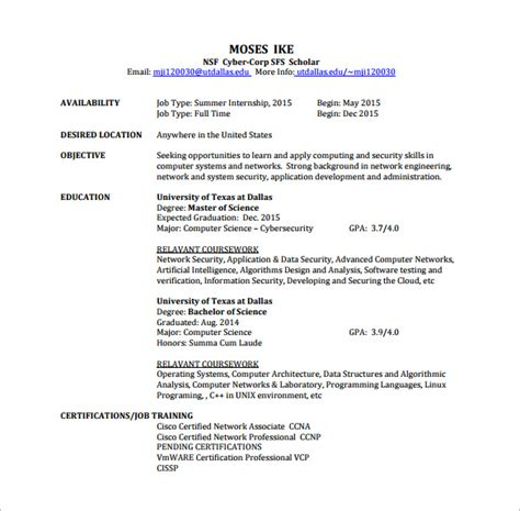Resume format for ccna freshers it resume cover letter jpg 585x575